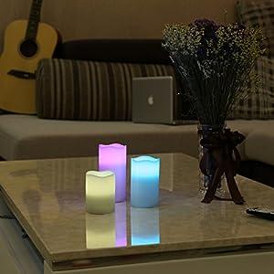 velas led colores