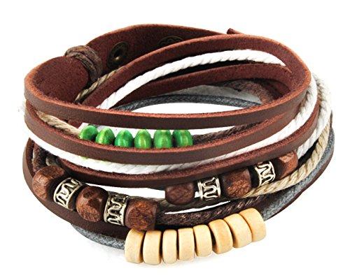 axy TWIC13 Tibet WICKELARMBAND Serie 13! ECHT Leder Armband Leather Bracelet!Surferarmband Schmuck (Modell 8)