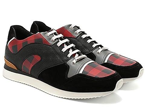 Baskets Dior sneakers homme en cuir retournée noir - Code modèle: 3SN090XIA 369 - Taille: 40 EU / 6 UK