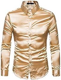 Mode Beiläufig Slim Fit Langarm Formal Glattes Hemden - Persönlichkeit der  Herren 95958c2e47