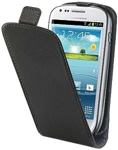 Muvit MUSLI0125 Etui à clapet avec Film de Protection d'écran pour Samsung Galaxy Mini S3 Noir