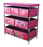 Fun House 712674Regal mit 6Fächer/Deckel für Kinder Metall/Polyester/Karton pink 66x 30x 63,5cm