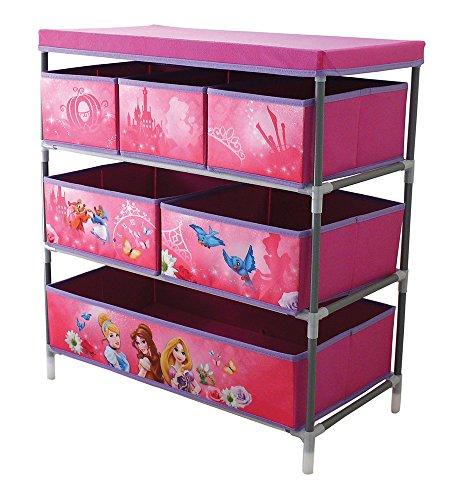 Fun House EstanterÍ 712674con 6baldas/Tapa para niños. Metal/poliéster/cartón Rosa, 66x 30x 63,5cm.