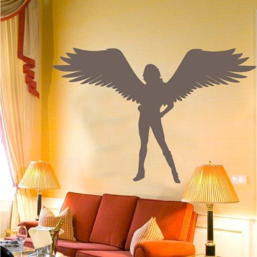 INDIGOS 4052166071826 Wandtattoo w434 Sexy Fee / Engel Wandaufkleber 120 x 80 cm, (Fee Flügel Junge)