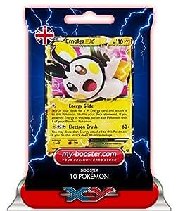 EMOLGA EX 46/146 110HP XY - Booster optimisé Attaque Eclair de 10 cartes pokemon Anglaises