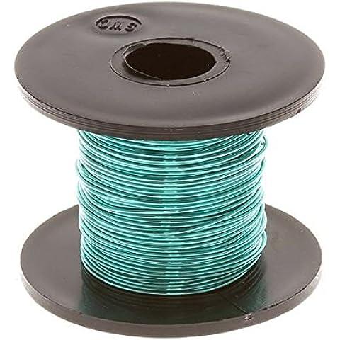 Foglia Verde Perline rame Craft Wire 0,50mm Bobina da 25metri - Copper Wire Bobine