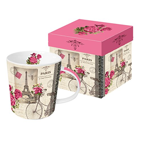 PPD Vélo Parisien Trend Kaffeebecher, Kaffeetasse, Kaffee Becher, New Bone China, Mehrfarbig, 350...