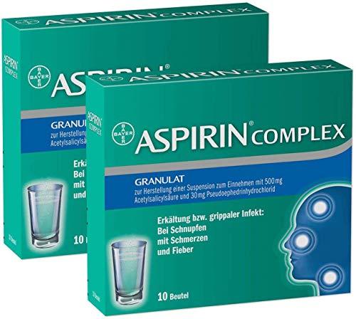 Erkältung Aspirin (Aspirin Complex 2x10 Beutel Granulat)