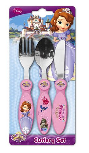 Disney Junior Sofia the First 3 Piece Metal Cutlery Set