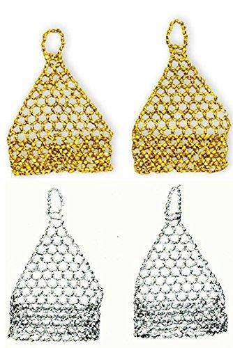 Perlenhandschuhe in silber Handschuhe aus Perlen für Pinzessinnen Kostüm