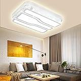 VWANT LED Deckenlampe Deckenleuchte Weiß-48W Kaltweiß Quadrat Energiespar Wohnzimmer Schlafzimmer Korridor Acryl-Schirm Rahmen Flur Lampe Schlafzimmer Küche Energie Sparen Licht Modern Design