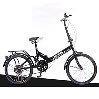 XQ- XQ-TT-612 Schwarz 20 Zoll Variable Geschwindigkeit Faltbare Fahrrad Dämpfung Fahrrad Erwachsene Kinder Fahrräder Männer Student Auto