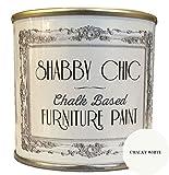 Shabby Chic Kreidefarbe Chalk Paint für Möbel Matte Oberfläche Kalkweiß (Chalky White) 1 Liter