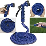 Xectes 50 FT Water Pipe With Spray Gun For Car Washer And Garden