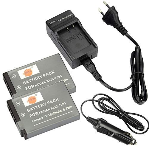 DSTE®(2 Pack) Ersatz Batterie und DC53E Reise