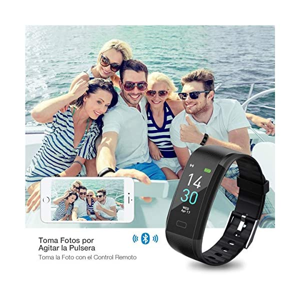 iWalker Smart Pulsera Fitness Tracker, Pulsera Actividad de Frecuencia Cardíaca, Impermeable IP68, Podómetro Deportiva… 7