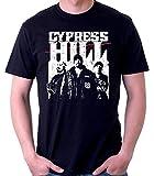 35mm - Camiseta Hombre - Cypress Hill Hip Hop - Rap - T-Shirt, Negra, XXL
