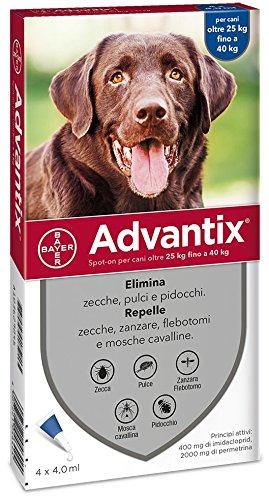 Advantix Spot-on per Cani oltre i 25Kg - 4 pipette da 4ml