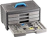 AGT Werkzeug Kästen: Werkzeugset im Koffer WZK-1005.s, 100-teilig (Werkzeug Sortimentskästen)