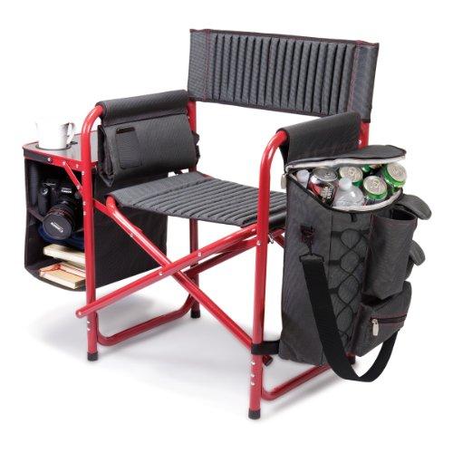 tiempo-de-picnic-fusion-silla-plegable-gray-w-rojo-marco-aluminio-w-lona-de-polister