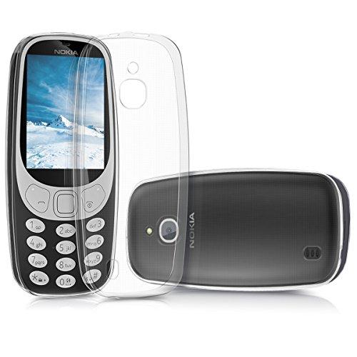 kwmobile Hülle für Nokia 3310 3G 2017 / 4G 2018 - TPU Silikon Backcover Case Handy Schutzhülle - Cover klar Transparent