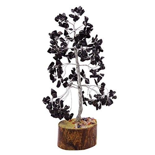 Harmonize Curación con cristales de turmalina negro Árbol de Piedra Gemas Reiki espiritual Feng Shui vector de la decoració
