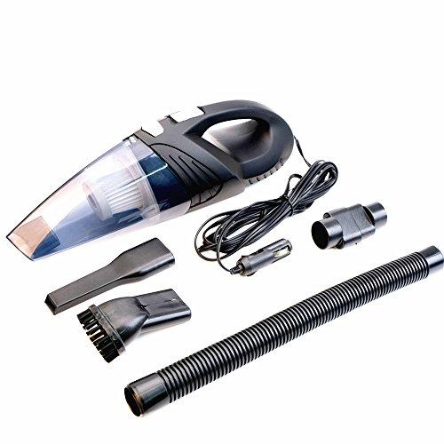 Aspirador de coche, ELOKI Auto Aspiradora DC 12V 120W 4.5kPA Aspirador de coche portátil de alta potencia con 14.8FT de cable de alimentación (negro)