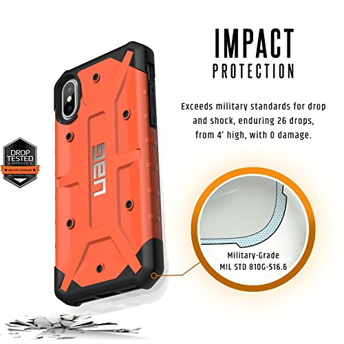 Urban Armor Gear IPHX-A-BK Custodia per iPhone X/10, Nero Ruggine