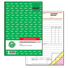 Sigel SD067 Contract Working Certificate A5 3 x 40 Pages Carbonless [Cannot Guarantee English]