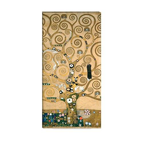 Wandkings Leinwandbilder von Gustav Klimt - Wähle ein Motiv & Größe: 'Der Lebensbaum' - 40 x 80...