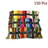 Routinfly Premium Rainbow Color Stickgarn Kreuzstichgarn 8 m lang (Multicolor, 150 colors)