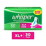 #5: Whisper Ultra Clean Sanitary Pads XL Plus (30 Count)