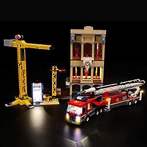 LIGHTAILING Set di Luci per (City Missione Antincendio in Città) Modello da Costruire - Kit Luce LED Compatibile con… 0716852279951 LEGO