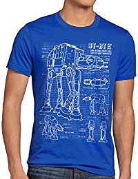 style3 AT-AT Herren T-Shirt blaupause walker