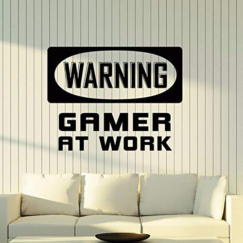 Pbldb 54X42 Cm Spiel Bei Der Arbeit Vinyl Wandtattoo Gamer Zimmer Idee Videospiel Gaming Decor Kunst Aufkleber Abnehmbare Kunstwand Schlafzimmer Dekor