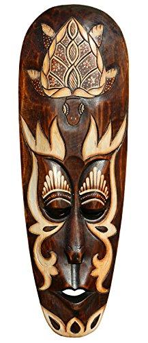 Schöne 50 cm Holz Wandmaske Schildkröte Schildi Tier Afrika Maske 59
