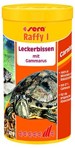 sera raffy I 1.000ml - der Gammarus-Mix bzw. Bachflohkrebse getrocknet für Wasserschildkröten, Reptilien, Amphibien (ideal auch als Teichfutter oder Goldfischfutter)
