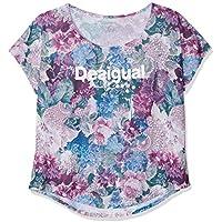 Desigual TS_Oversize Art&T 3020 Camisetas, Mujer, Rojo (Magenta Haze), XL
