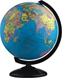 #3: pmw Spinning World Desktop Globe with Stand, 3 inch