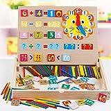 ZaiQu Kindererziehung Kindergarten Lernen Box Lehrmittel Früherziehung Spielzeug Mathematik Lernbrett Magnetische Berechnung Rahmen Malerei Bord (größe : B)