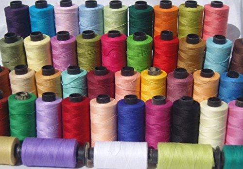 50x Baumwolle Nähgarn Spulen groß 100% Pure Premium Qualität Baumwolle Threads, je 500Meter alle Zweck Fäden 50Farben (100% Baumwolle-thread)