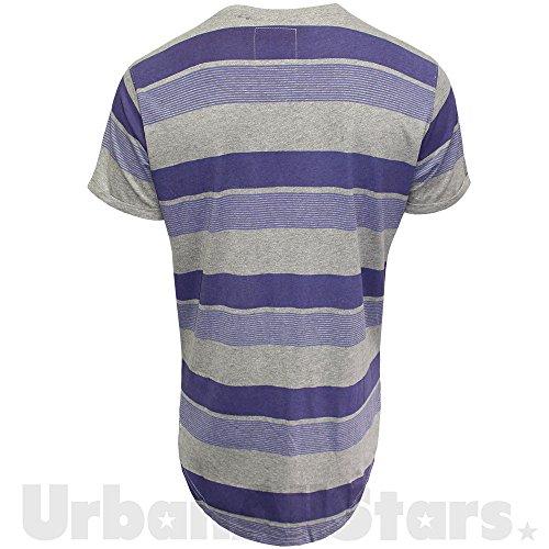 SoulStar Herren T-Shirt mehrfarbig mehrfarbig XX-Large Violett