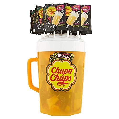 Chupa Chups Lecca Lecca B-Pop, Confezione da 100 Lollipop Monopezzi, Gusto Aroma Tropicale, Ideali da Condividere