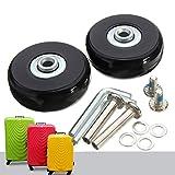 Mohoo 50x18mm Trolley ruote in gomma pneumatico della ruota e pneumatici Coppia di pneumatici per tronco