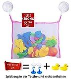 Badewannenspielzeug, Premium Baby Badewannen Spielzeug Aufbewahrungsbeutel für Jungen und Mädchen, Prämien 4 Heavy Duty Saugnäpfe und 2 Wasserspielzeug Badespielzeug, Das Perfekte Geschenk Spielzeug Ab 1 Jahr (Rosa)