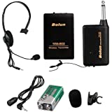 Remote Wireless Microphone Headset Stage Mic Receiver