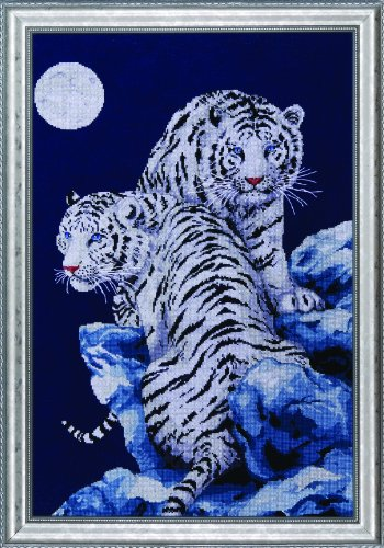Design Works Crafts Tobin SNT-IC2R-10 Kreuzstich-Set, Motiv Tiger, 40,6 x 58,4 cm, 14 Stück -