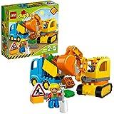 LEGO Duplo Camion e Scavatrice Cingolata con Due Personaggi, Set di Costruzioni per Bambini da 2-5 Anni, Multicolore, 10812