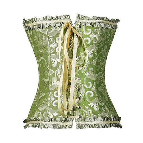 U-Pretty Damen Korsett Mieder Korsage Burleske exclusive Dessous Green