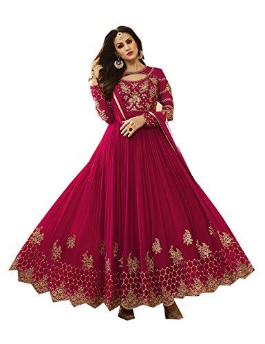 Indian Women Designer Partywear Ethnic Traditonal Pink Anarkali Salwar Kameez.